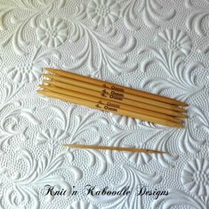6US (4 Inches SHORT) DoublePointed Knitting Needles Bamboo