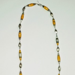 """Dandelion"" Paper Bead Earring and Necklace Set"