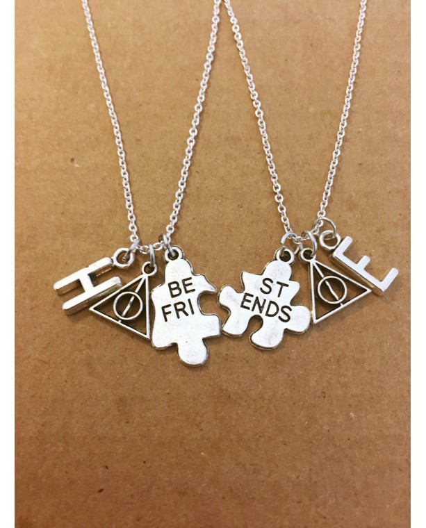 Two Harry Potter Charm Necklace