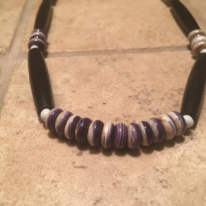 Wampum necklace REAL Authentic wampum shell beads native american made