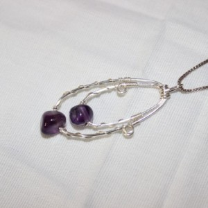 Amethyst Pendant, Wire Wrapped Pendant, Amethyst Necklace, February Birthstone Necklace, Chakra Balancing Pendant