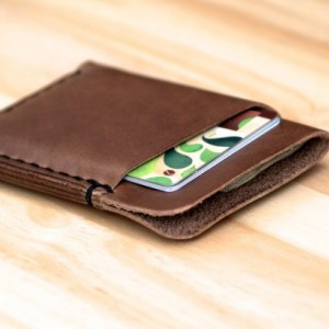 Leather Card Holder, Minimalistic Leather Wallet, Leather Card Wallet, Chromexcel Wallet, Horween Slim Leather Wallet, Natural Chromexcel