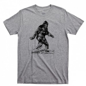 Bigfoot Men's T Shirt, Sasquatch Yeti Cryptids Hiking & Camping Unisex Cotton Tee Shirt