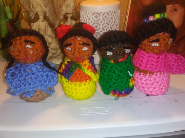 Beautiful crocheted dolls