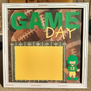 Green Bay Packer framed scrapbook page