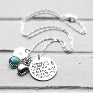 Hand Stamped Sterling Silver Teacher Retirement Necklace