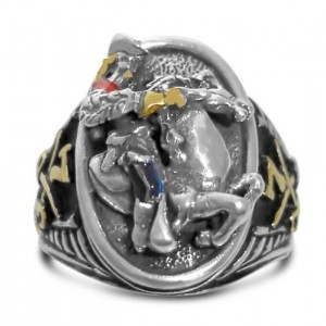 George Armstrong Custer sterling silver signet rings