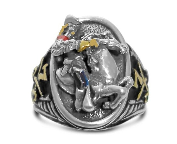 George Armstrong Custer 7th Cavalry sterling silver signet ring