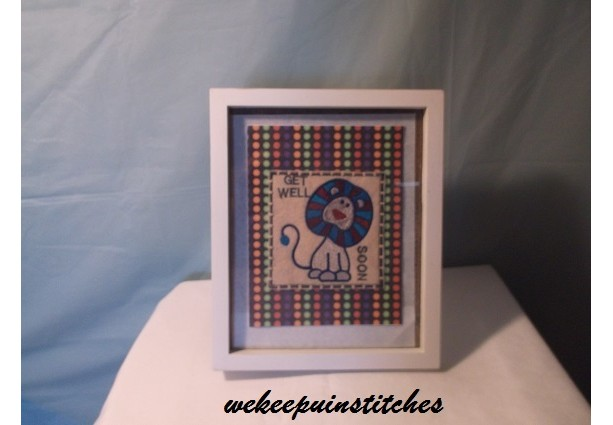machine embroidered card