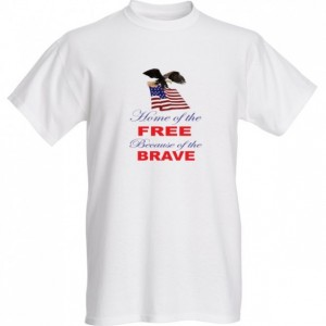 Home of The Free Because of The Brave Men's Tee