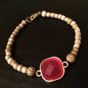 ruby and gold bracelet