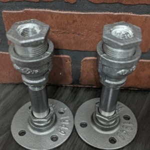 Industrial Pipe Candle Holder Set
