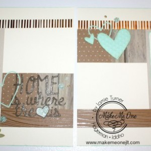 Home Is Where the Heart is Pre-Made Scrapbook Pages