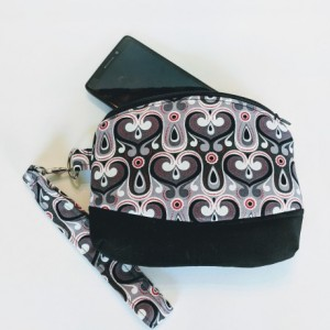 Women's Grab n Go Wristlet, Cell Phone Wallet, Fabric Wristlet, Small Handbag, Small Purse, Gift for her