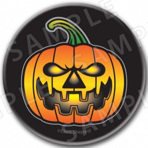 7 Piece HALLOWEEN JACK O LANTERN Pinback Buttons! Trick or Treat Gifts!