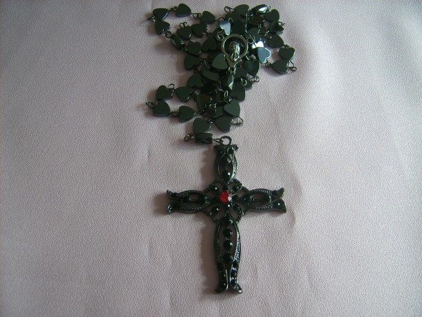 Rosary Beads - Hematite Heart Shaped