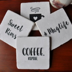 Muglife Coasters. Ideal for Wedding, Anniversary, Birthday, Christmas, Valentine's Day, Funny Coasters, Unique Gift. Humorous. Handmade.
