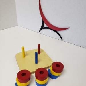 Montessori Colored Rings on Colored Vertical Dowel - CD101