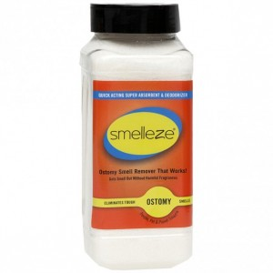 SMELLEZE Ostomy Bag Smell Removal Deodorizer: 2 lb. Granules Stop Colostomy Stench