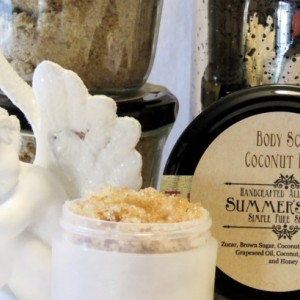 Summer's Skin Coconut Bliss Sugar Scrub, All Natural, Handcrafted