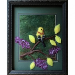 """Wool Painting """"Oriole"""""""