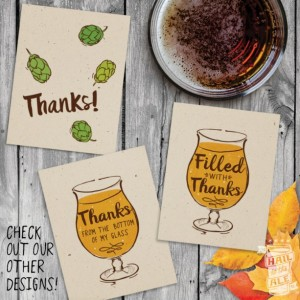 6 Pack: Beer Thank You Cards