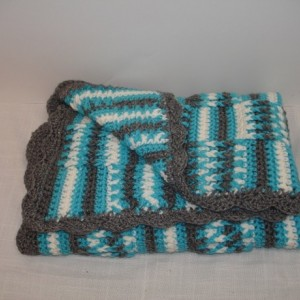 Crocheted Handmade Baby Carseat Floortime Naptime Anytime blanket