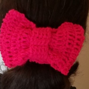 Crochet Bow Scrunchie