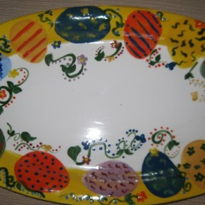 Hand painted Easter Egg large platter