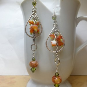Day at the Beach Cluster Earrings