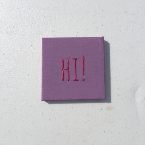 Mini Painted Canvases Wedding Favors with Hand-Embroidered Customized Message