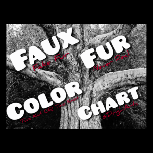 FAUX FUR COLOR CHART!