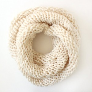 SALE - Infinity Scarf No. 5 in Cream - Circle Scarf - Chunky Scarf - Cowl Scarf - Hooded Scarf - Ready to Ship