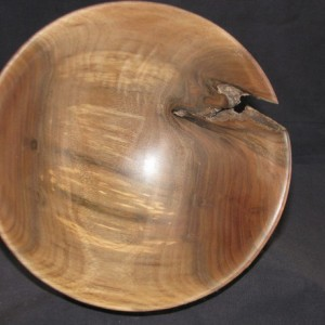 Black Walnut Bowl - handturned - Ideal for fruit, dry flowers, air plants or any of your favorite knick knacks.