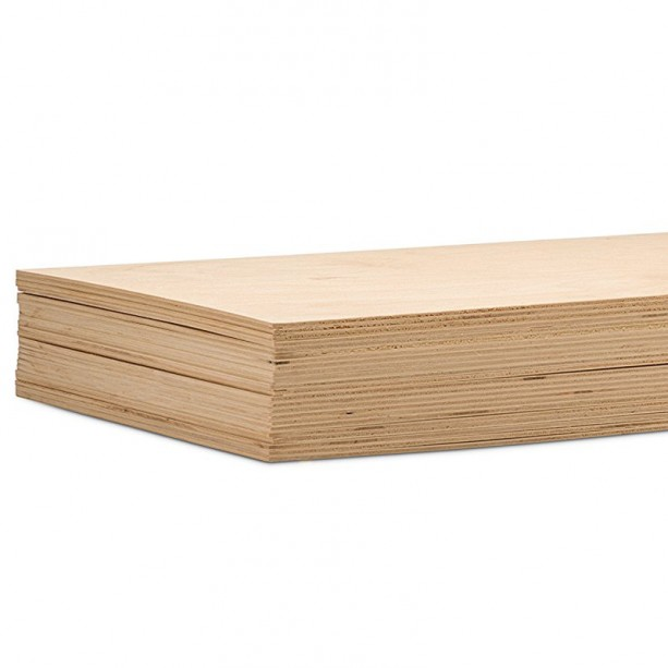 36 sheets 1/4 inch thickness 5 inch  W x 7 inch H Baltic Birch Plywood