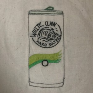 Embroidered White Claw Canvas Tote Bag