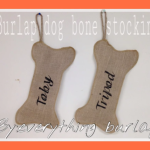 Burlap dogbone stocking