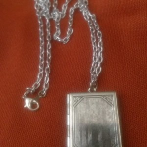 Locket Book Necklace