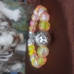 Yellow colored lion charmed braclet