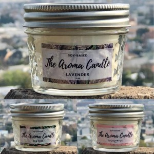 AromaTherapy Soy Candles - 3 Pack