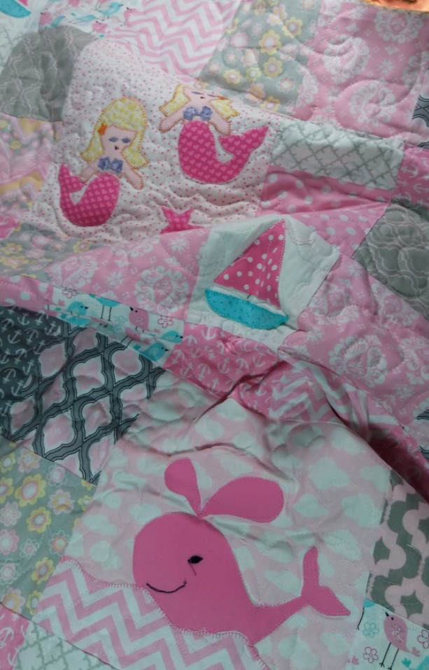Baby Girl Nautical Mermaid Quilt Aftcra