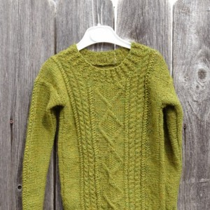Hand Knitted Alpaca Sweater, Sweater for 4T-5T,  Olive Green Kids Pullover, 100% Wool Sweater, Unisex Toddler Sweater, Alpaca, Ready to Ship