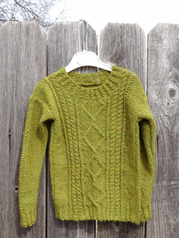Hand Knitted Sweater Made With Alpaca Wool Unisex Size 4t
