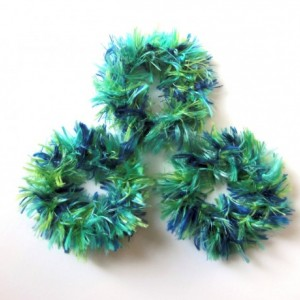 Cat Ferret Recycled Rings Toy Toys Handmade Michigan Blue Green Bad Hair Day Toys