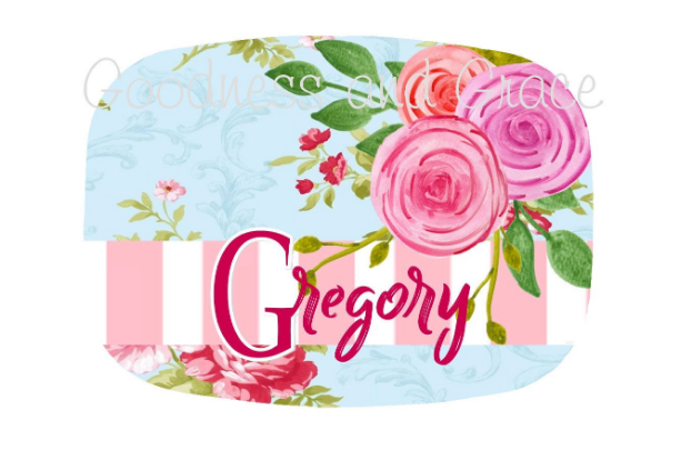 Roses Family Name Platter - Shabby Chic Personalized Monogram - Bridal Tea Party - Tea Party Birthday - Wedding Shower Platter or Decor Tray