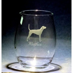 Custom Hand Etched Dog glass with name