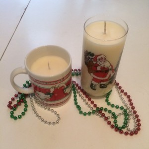 Customized Christmas Mug soy wax Candle
