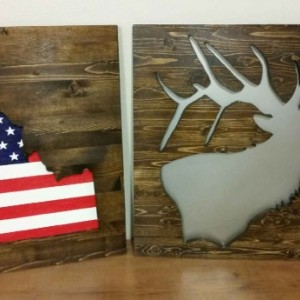 Idaho Patriotic Wood Wall Art
