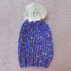 Baby & Toddler Knit Hat w/ Faux Fur Pom Pom