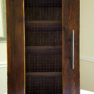 Handcrafted Wine Cabinet with Early American Finish, Wine Storage, Wine Rack